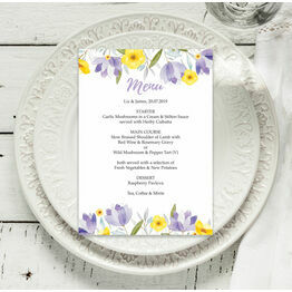 Lilac & Lemon Menu