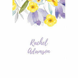 Lilac & Lemon Place Cards - Set of 9