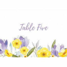 Lilac & Lemon Table Name
