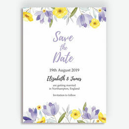 Lilac & Lemon Save the Date