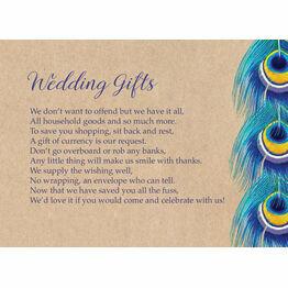 Rustic Peacock Gift Wish Card