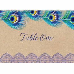 Rustic Peacock Table Name