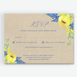 Rustic Sunflower RSVP