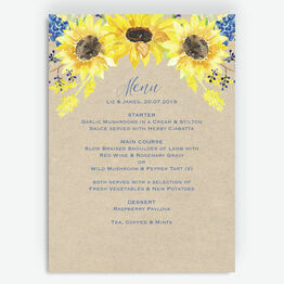 Rustic Sunflower Menu