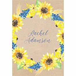 Rustic Sunflower Place Cards - Set of 9