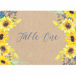 Rustic Sunflower Table Name