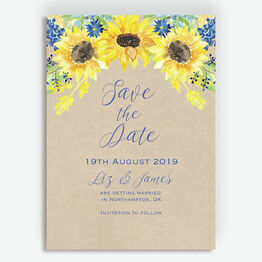 Rustic Sunflower Save the Date