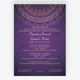 Purple & Gold Indian / Asian Wedding Invitation