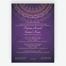 Purple & Gold Indian / Asian Wedding Invitation