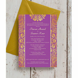 Purple Mandala Indian / Asian Wedding Invitation