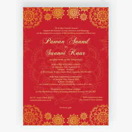 Red & Gold Indian / Asian Wedding Invitation