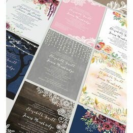 Limited Edition Wedding Invitation - 12 Designs Available