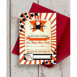 Pack of 10 Magic Show Party Invitations