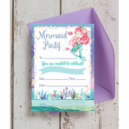 Pack of 10 Mermaid Invitations