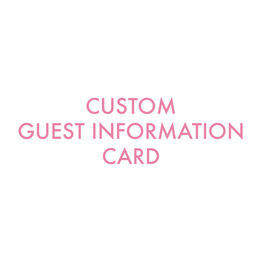Custom Guest Information Card