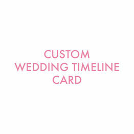 Custom Wedding Timeline Card