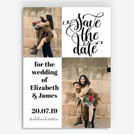 Modern Calligraphy Photo Save the Date