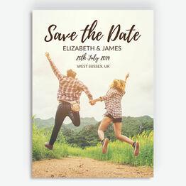 Stylish Script Photo Save the Date
