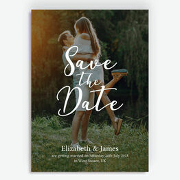 Luxe Lettering Photo Save the Date