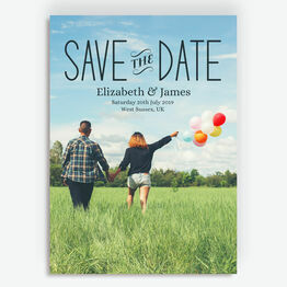Bright Sky Photo Save the Date