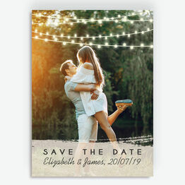 Fairy Lights Photo Save the Date
