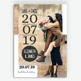 The Big Day Photo Save the Date