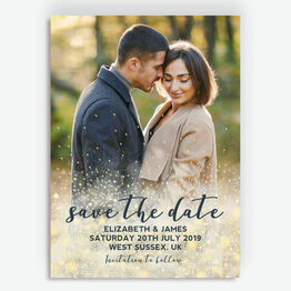 Golden Glow Photo Save the Date