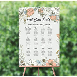 Wild Flowers Wedding Seating Plan
