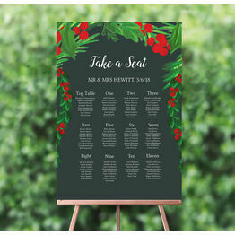 Winter Berries Wedding Seating Plan