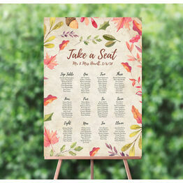 Autumn Leaves Wedding Seating Plan