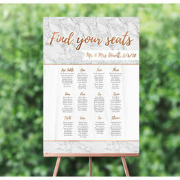 Marble & Copper Wedding Seating Plan