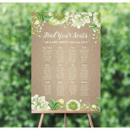Rustic Greenery Wedding Seating Plan