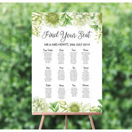 Greenery Wedding Seating Plan