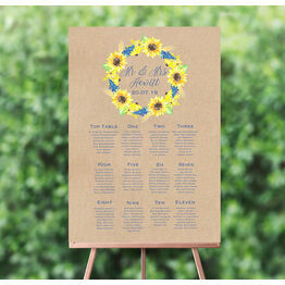 Rustic Sunflower Wedding Seating Plan