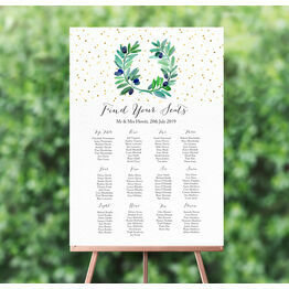 Olive Wreath Wedding Seating Plan