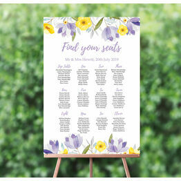 Lilac & Lemon Wedding Seating Plan