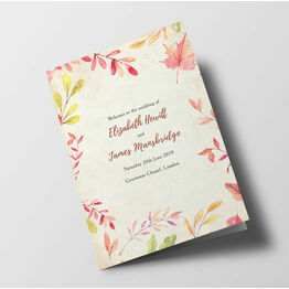 Autumn Leaves Wedding Order of Service Booklet