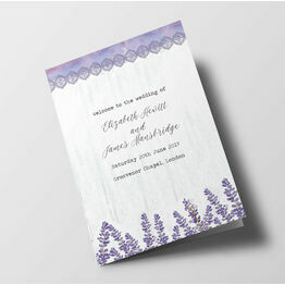Lilac & Lavender Wedding Order of Service Booklet