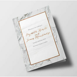 Marble Wedding Order of Service Booklet
