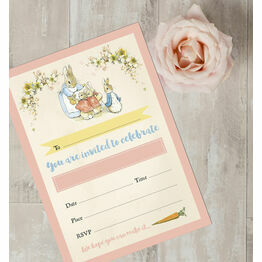 Pack of 10 Beatrix Potter Flopsy Bunnies Invitations