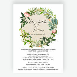 Floral Wreath Wedding Invitation