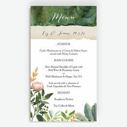 Flora Wreath Menu