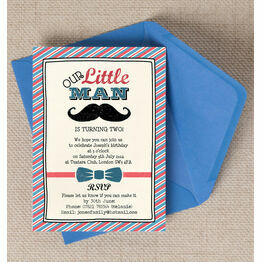 Little Man Party Invitation
