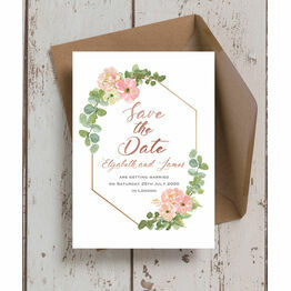 Blush Pink Flowers Wedding Save the Date