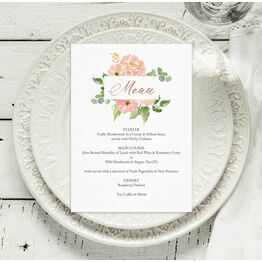 Blush Pink Flowers Menu