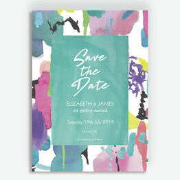 Bright Watercolour Wedding Save the Date