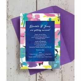 Bright Watercolour Wedding Invitation