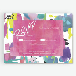 Bright Watercolour RSVP