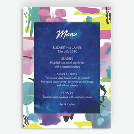 Bright Watercolour Menu