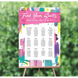 Bright Watercolour Wedding Seating Plan